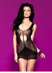 Oval Net Mini Dress