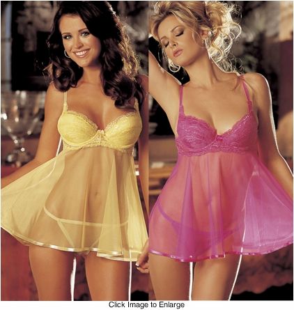 Pamela Babydoll Lingerie with G-string