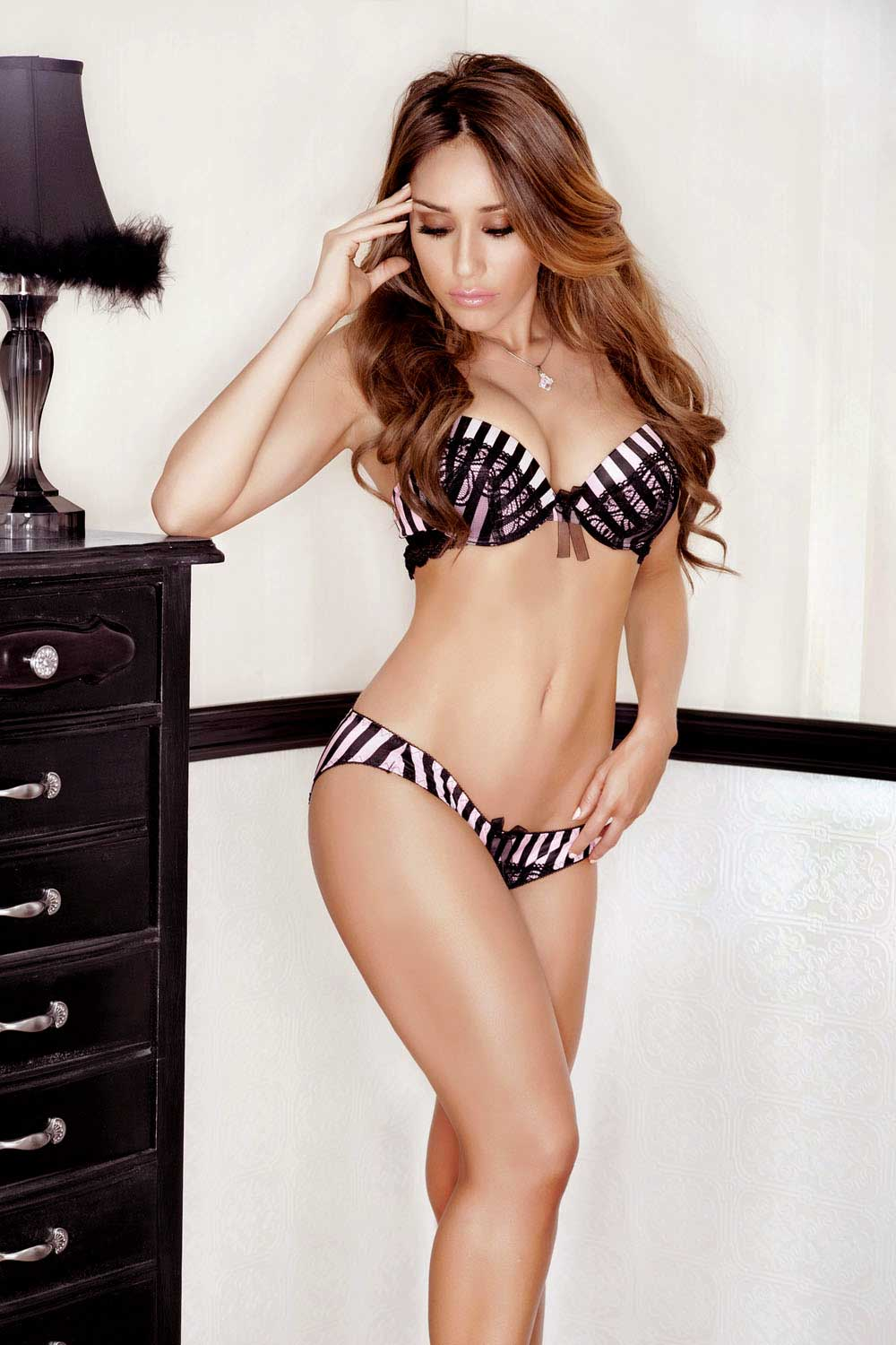 Paris Stripe Bra and Panty