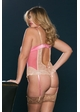 Perla Pink and Nude Lace and Satin Bodysuit inset 3