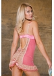 Perla Pink and Nude Lace and Satin Dress and G-string inset 1