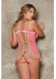 Perla Pink and Nude Lace and Satin Dress and G-string inset 3