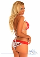 Pin-Up Cherry Print Pucker Back Bikini inset 1
