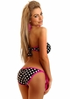 Pin-Up Polka Dot Pucker Back Monokini inset 1