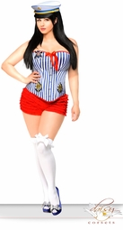 Pin-Up Sailor Costume with Matching Hat