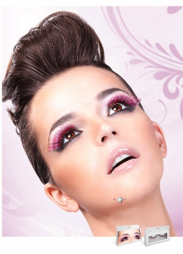 Pink and Black Fake Lashes