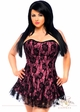 Pink Corset Dress with Lace Overlay inset 2