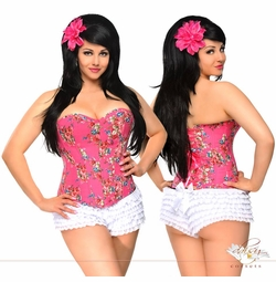 Pink Country Rose Corset
