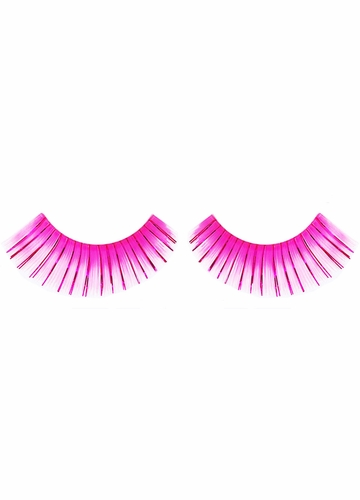 Pink False Lashes with Pink Metallic