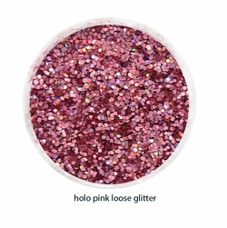 Pink Holographic Color of Luxe Glitter Powder - Eyeliner & Eye Makeup