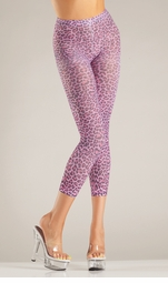 Pink Leopard Footless Tights