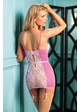 Pink Mesh and Lace Garter Slip inset 1