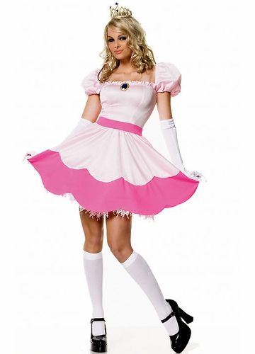 Pink Princess Peach Toadstool Halloween Costume