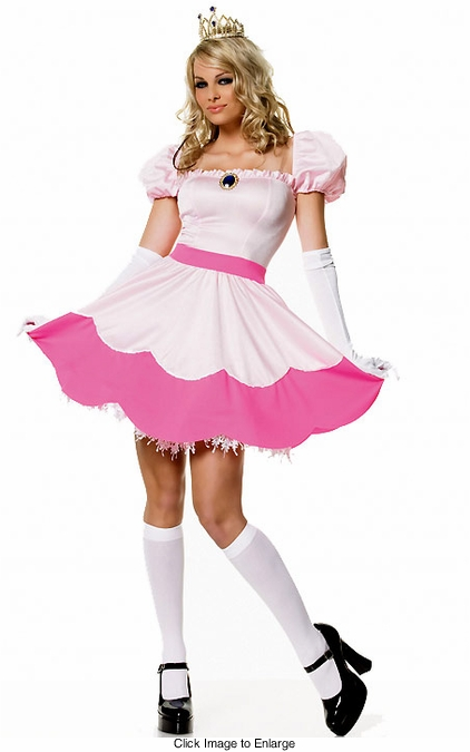 Pink Princess Peach Toadstool Costumes
