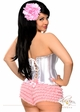 Pink Ruffle Shorts with Bow Accents inset 2