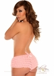 Pink Ruffle Shorts with Bow Accents inset 3
