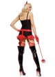 Pinstripe Devil Girl Costume inset 1