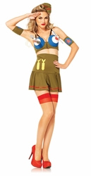 Pinup Bomber Girl Costume