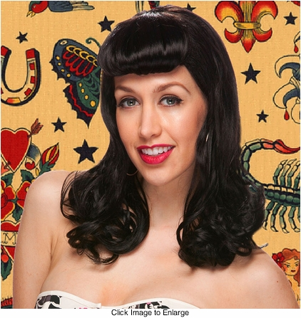 Pinup Style Wig with Bumper Roll Bangs