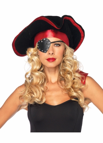 Pirate Hat, Eye Patch and Head Scarf