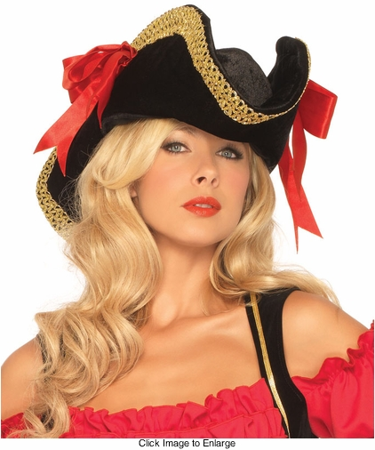 Pirate Hat with Gold Trim