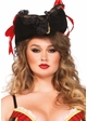 Pirate Hat with Lace Trim and Satin Bows inset 1