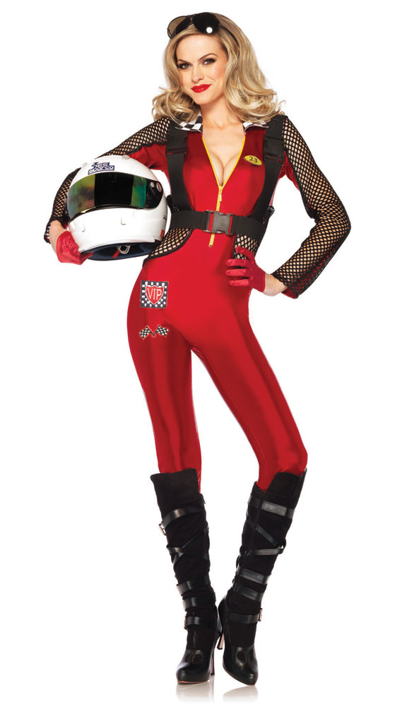 Pitstop penny race car driver costume