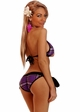 Plaid Schoolgirl Pucker Back Bikini  inset 1