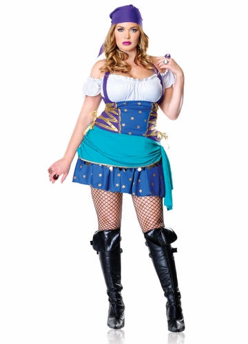 Plus Size Gypsy Princess Halloween Costume
