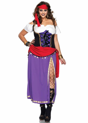 Plus Size Traveling Gypsy Halloween Costume