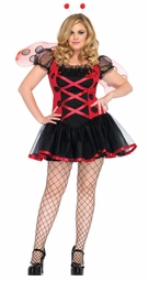 Plus Size 3-Piece Cute Ladybug Costume