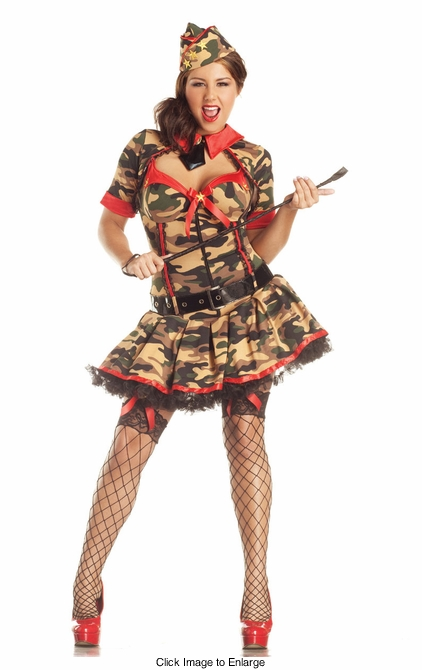 Plus Size Army Brat Shaper Costume