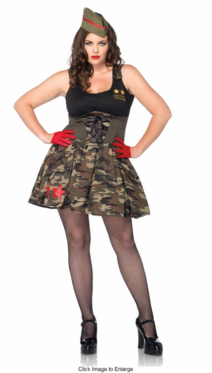 Plus Size Army Cutie Costume