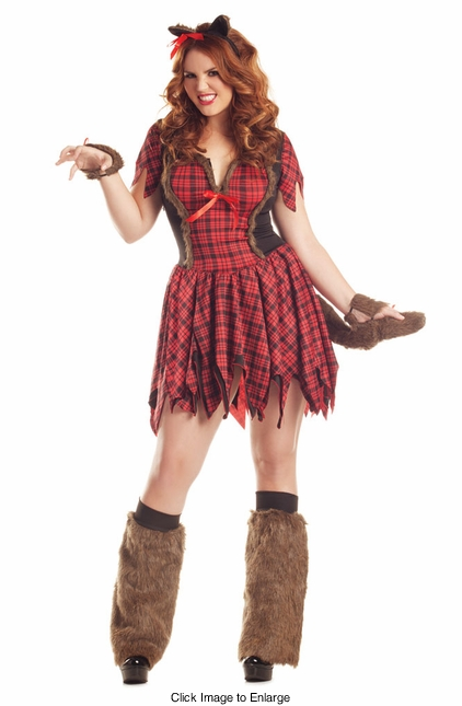 Plus Size Bad Werewolf Babe Costume