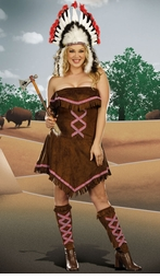 Plus Size Indian Warrior Costume