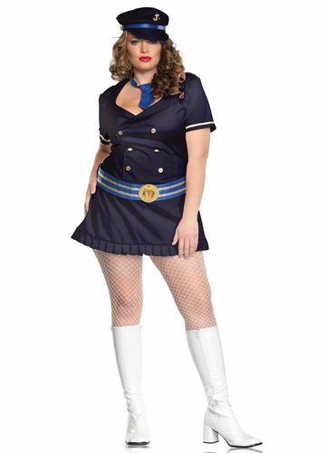 Plus Size Navy Blue Captain Costume