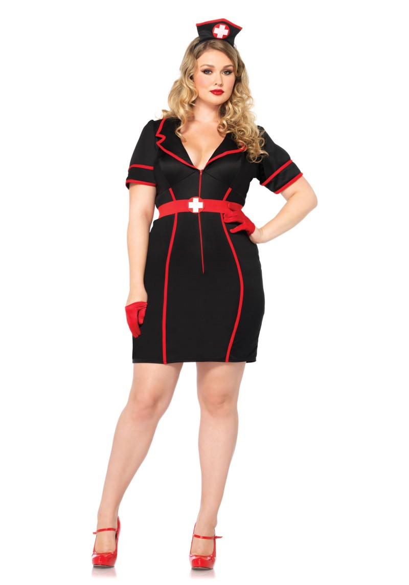 Plus Size Nighttime Nurse Halloween Costume