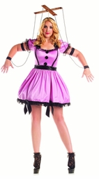 Plus Size Pink Marionette Costume
