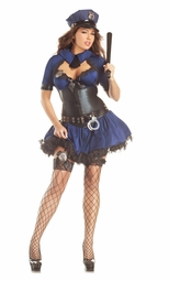 Plus Size Police Office Shaper Costume