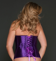 Plus Size Purple Satin Corset