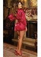 Plus Size Satin Robe and Low Back Slip inset 1
