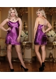 Plus Size Satin Robe and Low Back Slip inset 4
