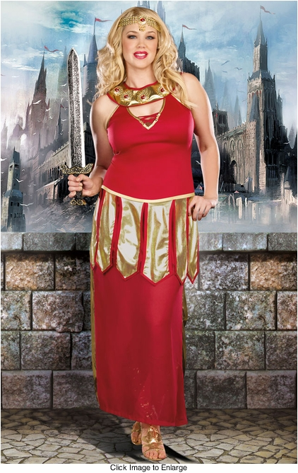 Plus Size Warrior Princess Costume