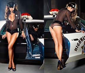 Police Sexy Lingerie Costume
