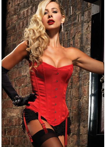 Premium Showgirl Corset in Red