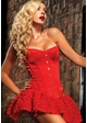 Premium Showgirl Corset in Red inset 1
