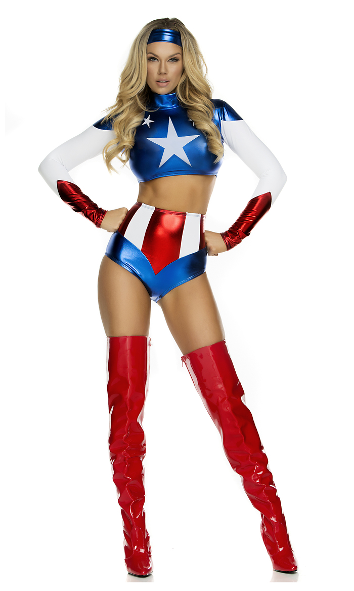 Pretty Patriot Superhero Costume