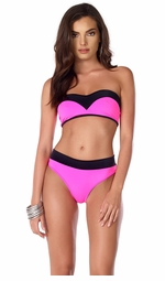 Private Cabana Two Tone Swimsuit Bikini