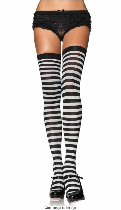Punky Candy Cane Stripe Stockings