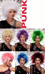 Punk- Punky Spiked Wig in Vibrant Colors